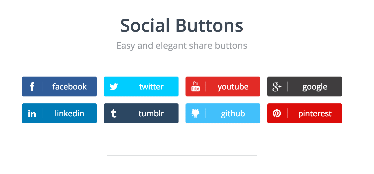 Image showing the social media share buttons that enable users to share content on different social media platforms