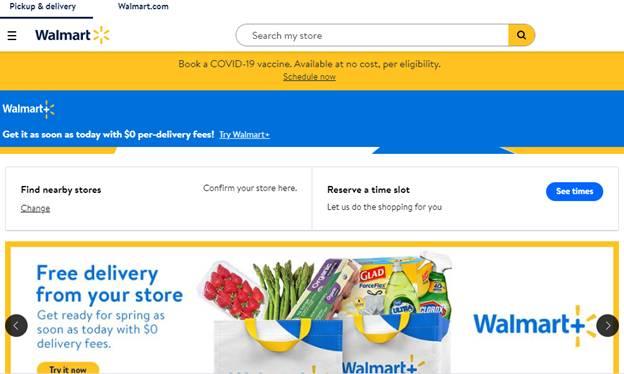 walmart e-commerce website