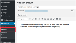 Adding products in WooCommerce
